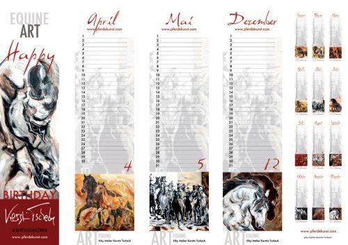 Pferde Geburtstagkalender Ansicht