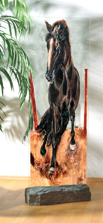 Glassteele, Pferdedruck, Kerstin Tschech