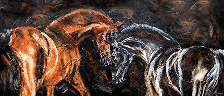 Pferde malen lassen als Auftrag