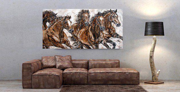 Pferdedruck auf Leinwand