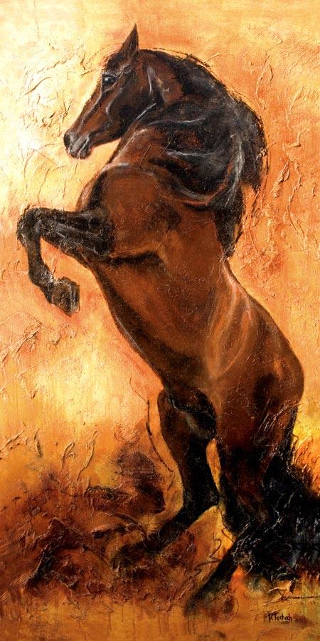 Pferde Kunstdruck, Pferdegemälde, Pferdebild, Pferdeportrait, Pferdekalender, Pferdemaler Kerstin Tschech