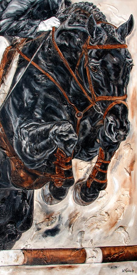Pferde Kunstdruck, Pferdegemälde, Pferdebild, Pferdeportrait, Pferdekalender, Pferdemaler, Kerstin Tschech