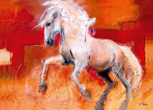 Pferde Kunstdruck, Pferdebild, Pferdegemälde, Pferdeportrait, Pferdekalender, Pferdemaler, Kerstin Tschech