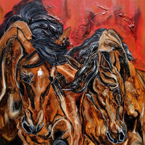 Pferdegemälde abstrakt